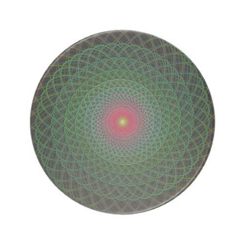 Fractal spiral Sandstone Coaster