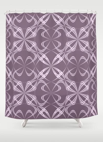 Calligraphy pattern Shower Curtain