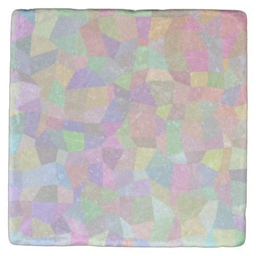 Multicolor mosaic background Stone Coaster
