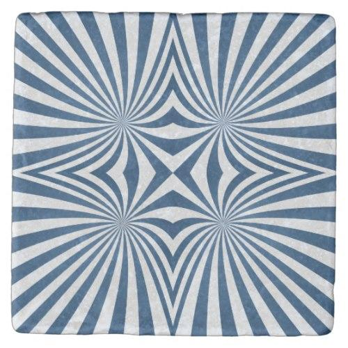 Blue repeating hypnotic pattern Stone Coaster