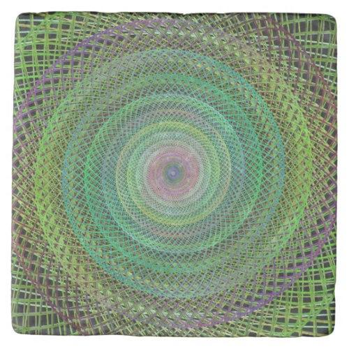 Multicolor fractal Stone Coaster