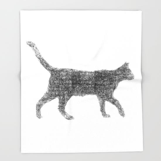Dust kitten Throw Blanket
