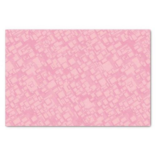 Pink rectangle pattern Tissue Paper