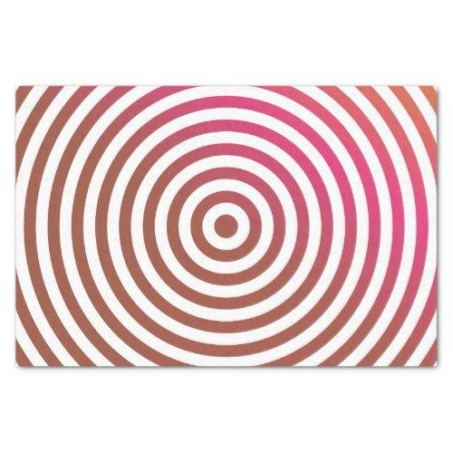 Color concentric circles Tissue Paper