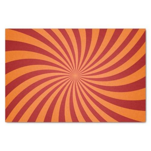 Red orange swirls Tissue Paper