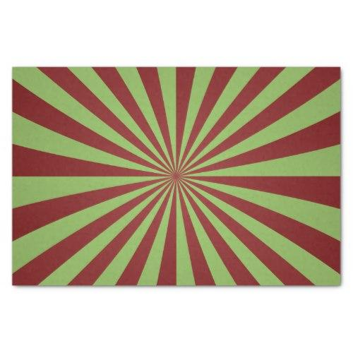 Red green rays Tissue Paper