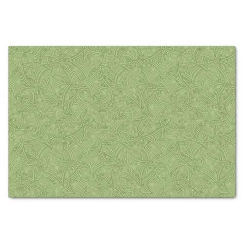 Green curved shape pattern Tissue Paper