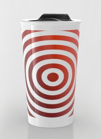 Red circles Travel Mug