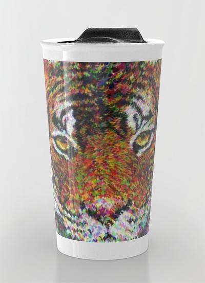 Tiger head Travel Mug
