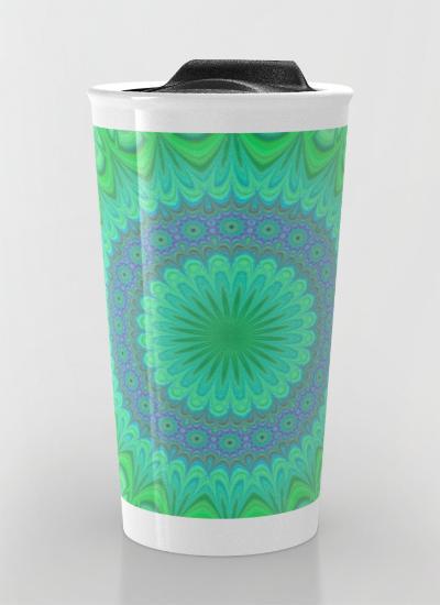 Crystal mandala Travel Mug