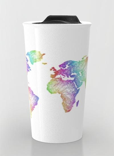 World map gifts printedgift world map travel mug gumiabroncs Choice Image