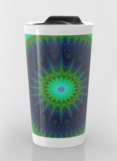 Winter mandala Travel Mug