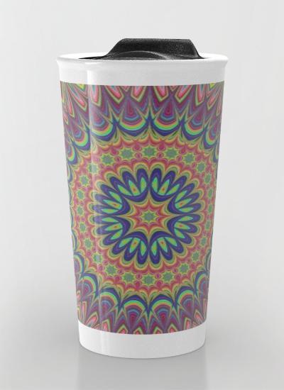 Flame mandala Travel Mug