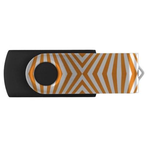 Orange spiral pattern Swivel USB Flash Drive