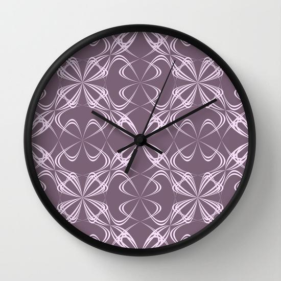 Calligraphy pattern Wall Clock