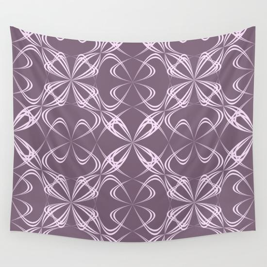 Calligraphy pattern Wall Tapestry