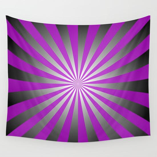 Purple burst Wall Tapestry