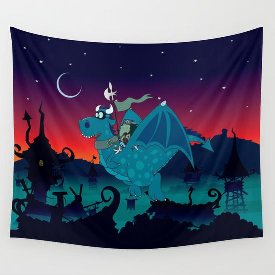 Night watch Wall Tapestry