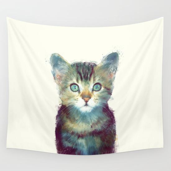 Cat - Aware Wall Tapestry