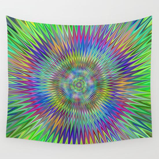 Hypnotic stars Wall Tapestry