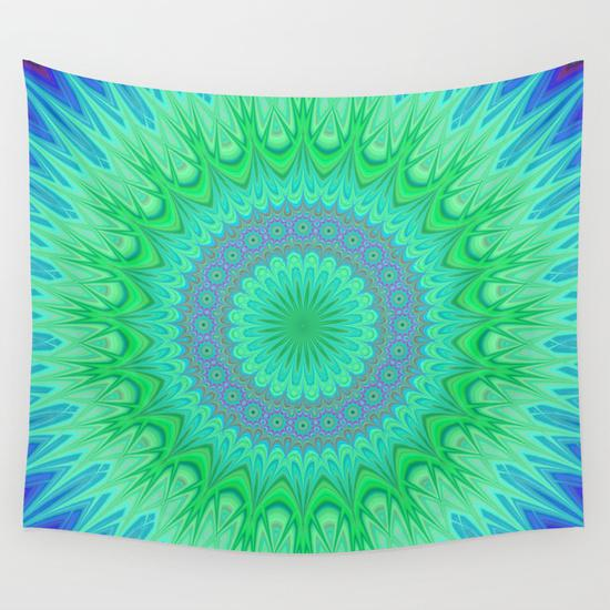 Crystal mandala Wall Tapestry