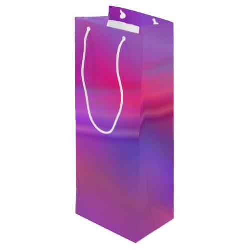 Purple abstract design Wine Gift Bag