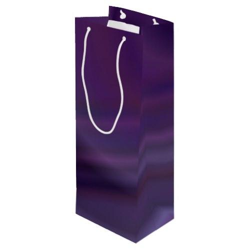 Purple abstract Wine Gift Bag