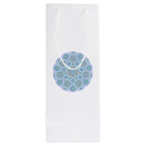 Mandala ornament Wine Gift Bag