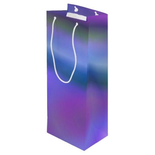 Purple blue abstract Wine Gift Bag