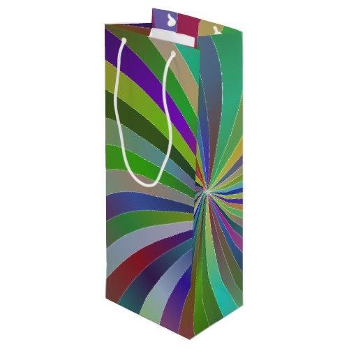 Colorful swirls Wine Gift Bag