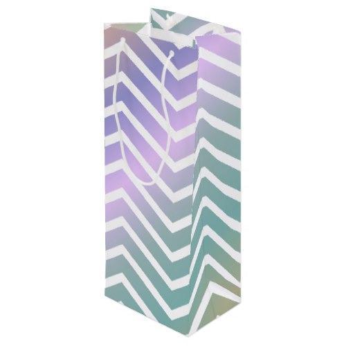 Multicolor chevron pattern Wine Gift Bag