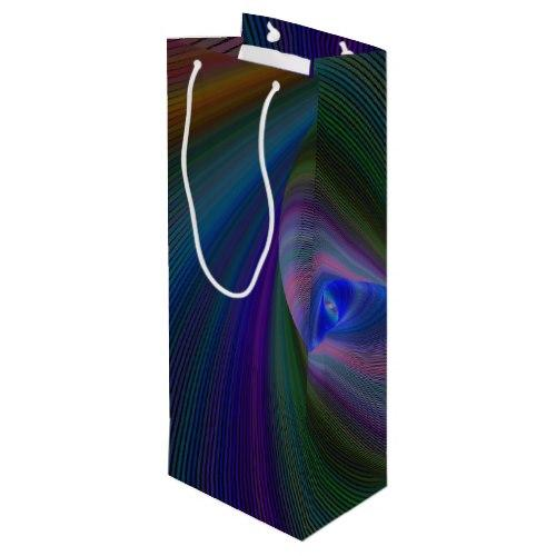 Elliptical fractal Wine Gift Bag