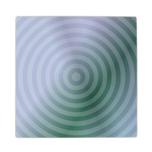 Teal concentric rings Wood Coaster