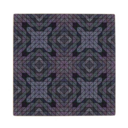 Geometric dusk Wood Coaster